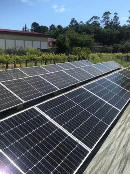Instalación fotovoltaica para autoconsumo en suelo en Ponteareas